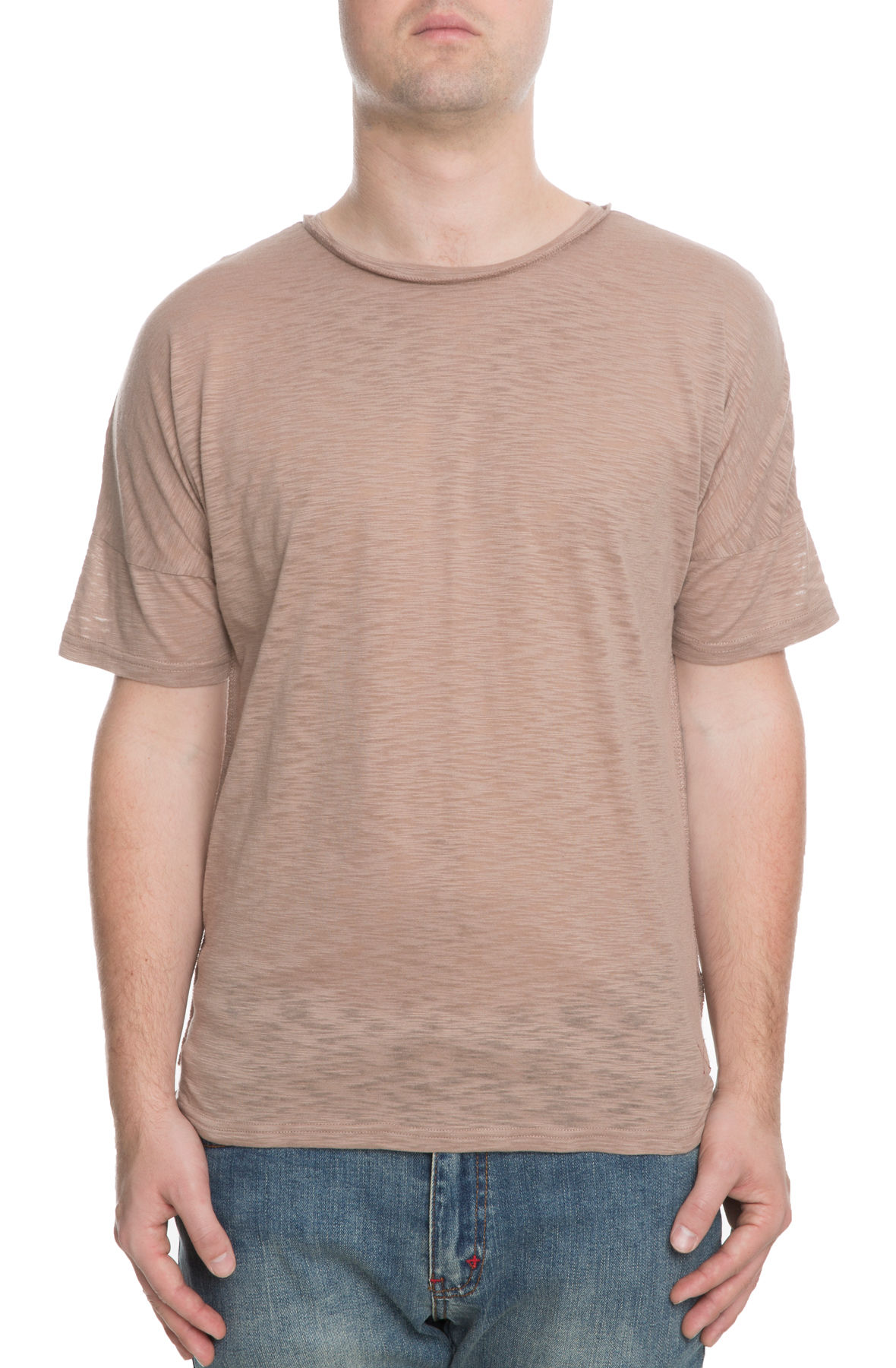 The Gator Off Shoulder Tee in Brown
