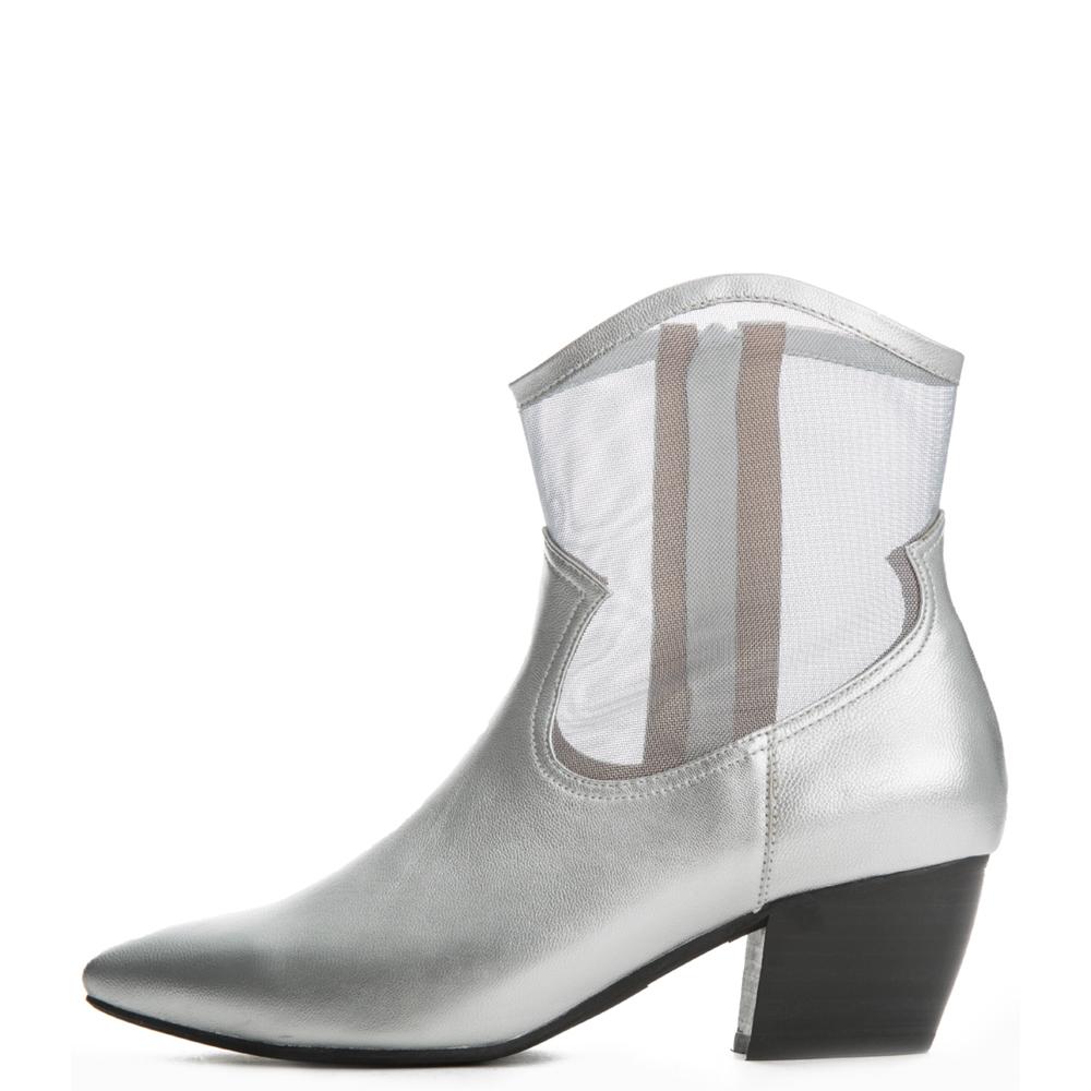 Jeffrey Campbell For Women: Inigo Silver Heel Booties