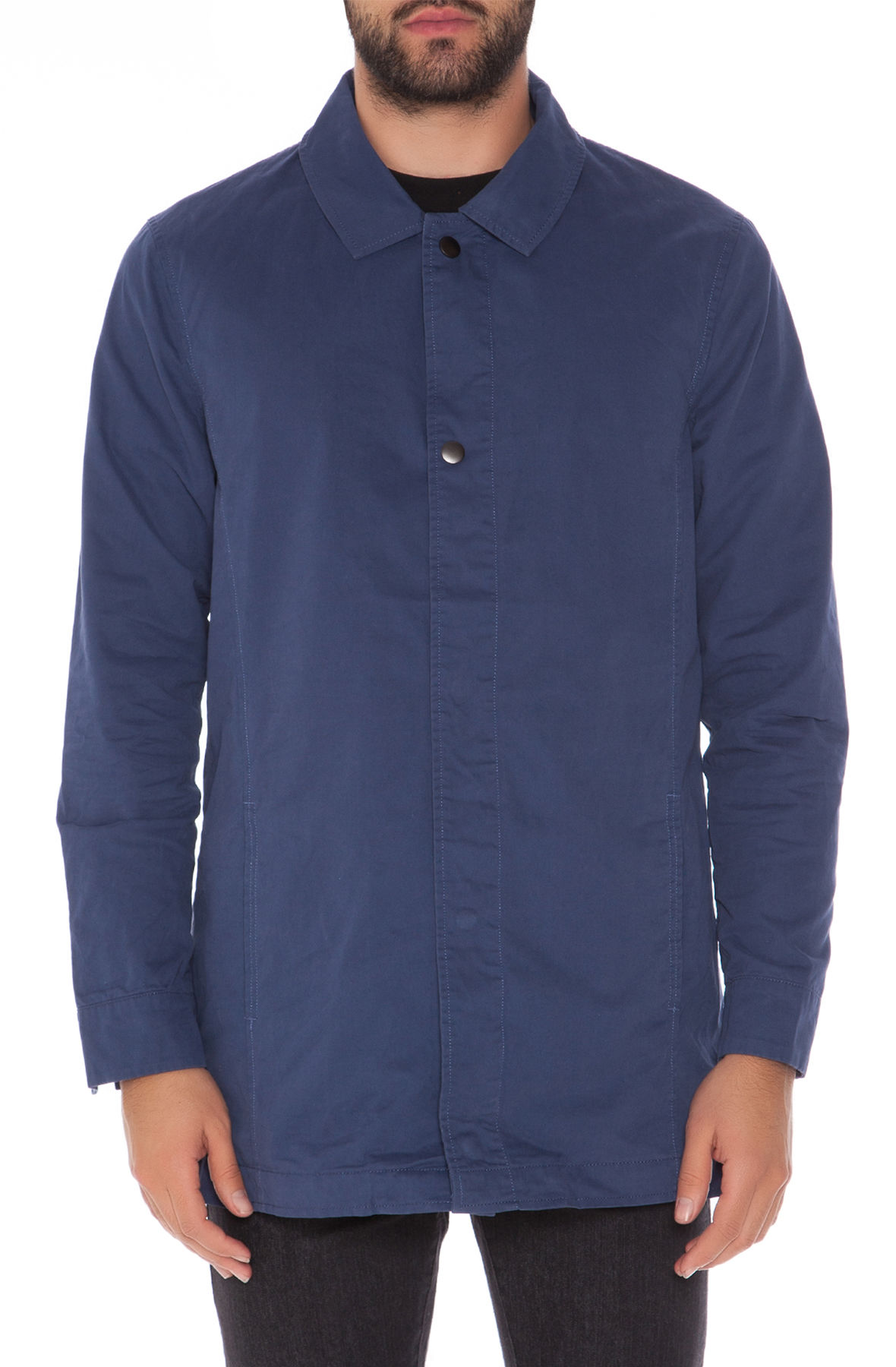 Image of The Canvas Snapdown Jacket in Blue