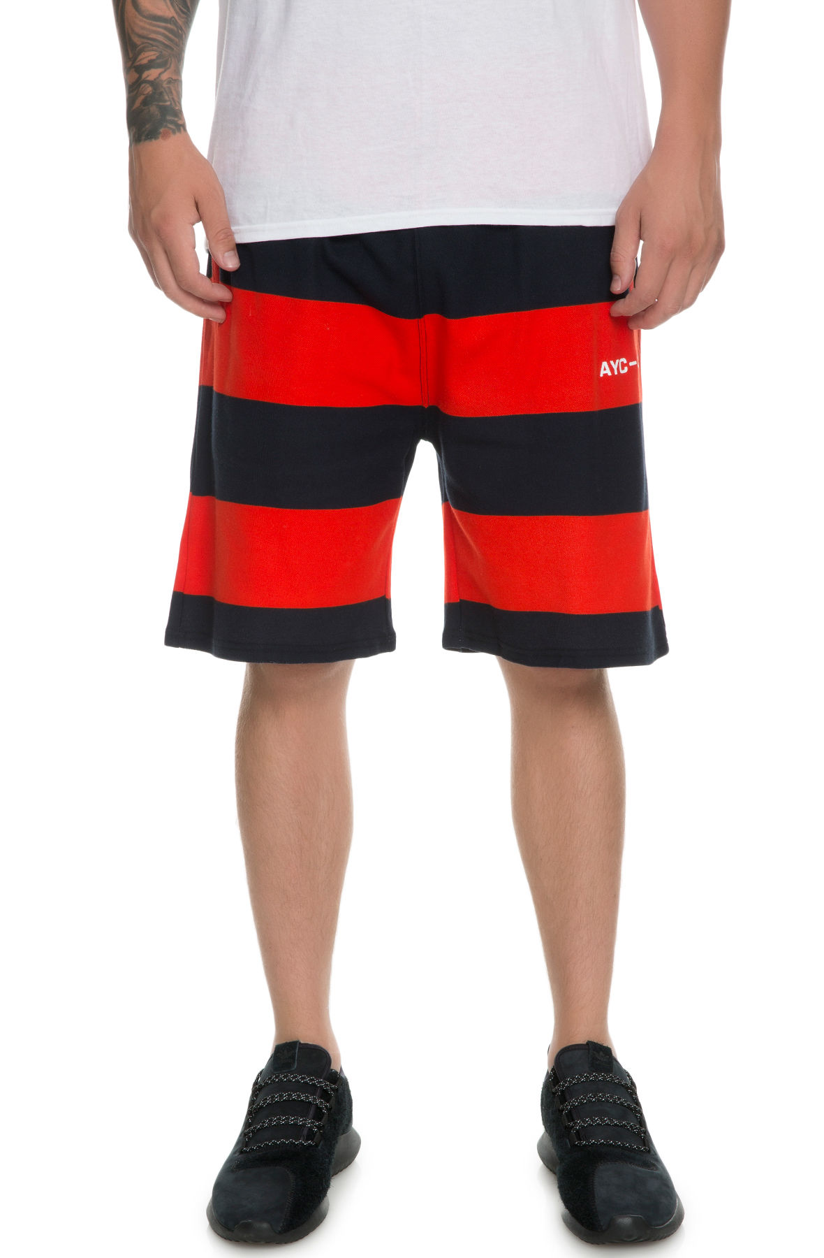 The Big Stripe Short in Red