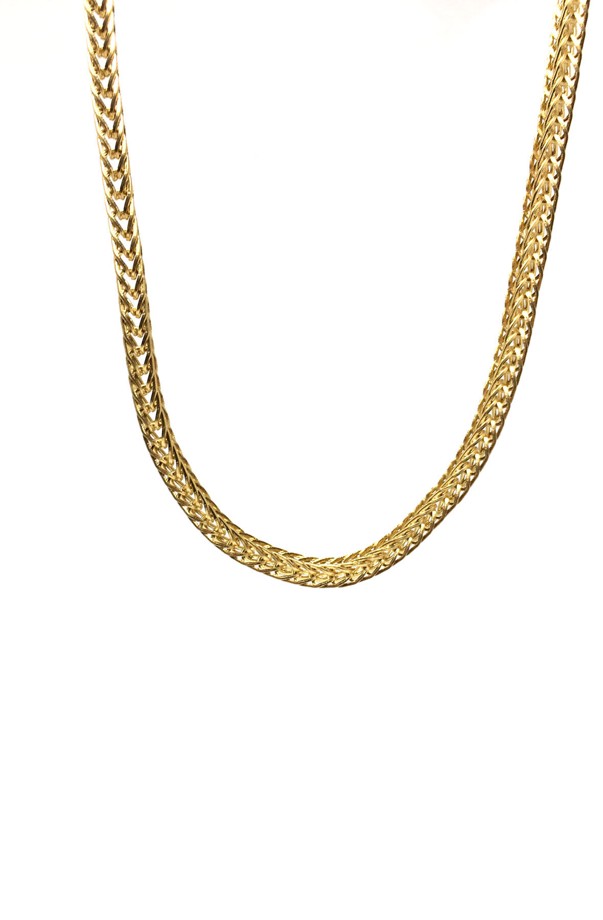 stainless steel gold franco necklace