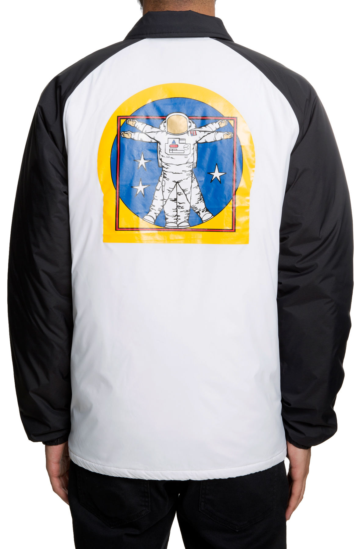 The M VANS SPACE TORREY PADDED MTE Jacket in Space White and Black