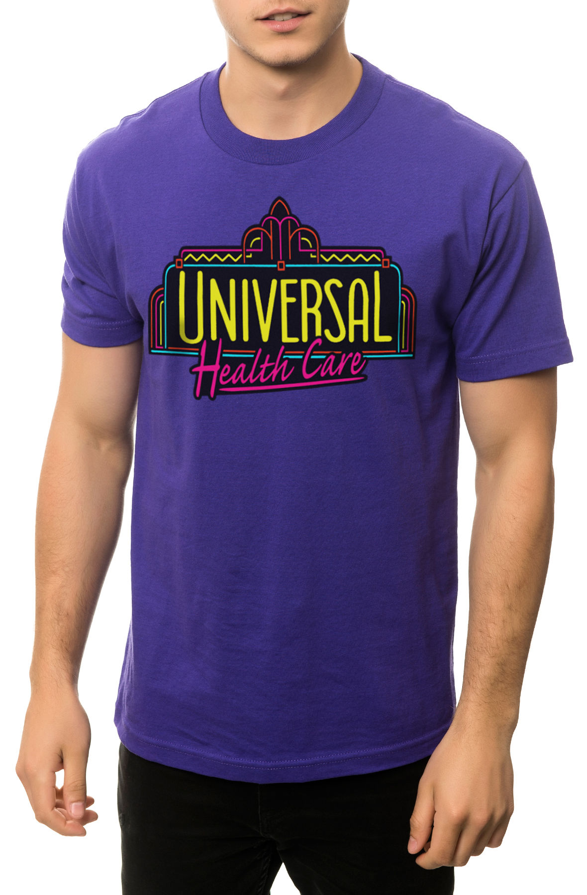 Image of The Universal Health Care Tee in Purple