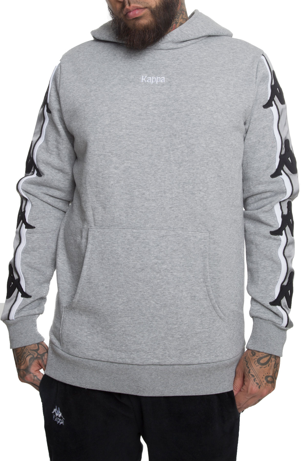 Image of The Authentic Bzaliab Pullover Hoodie in Medium Grey and Grey Silver