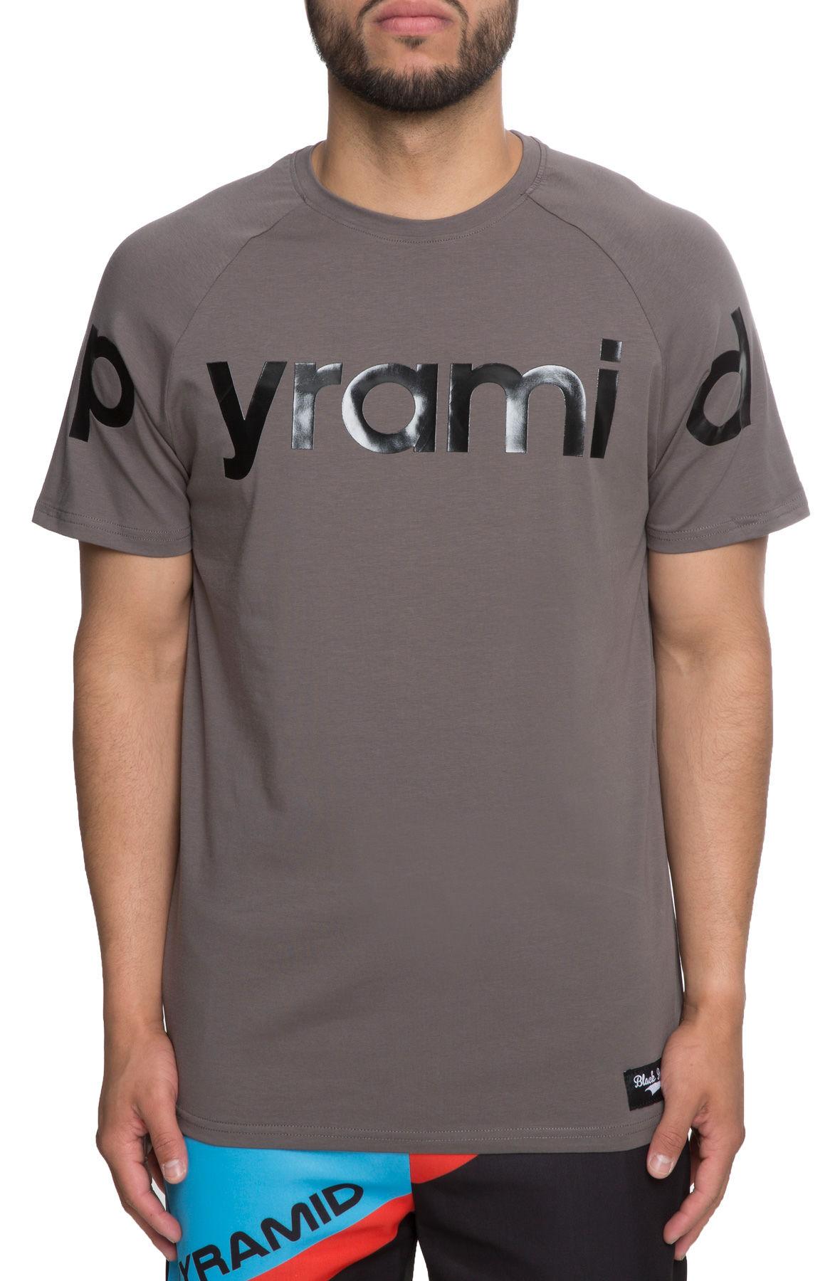 the pyramid raglan tee in grey