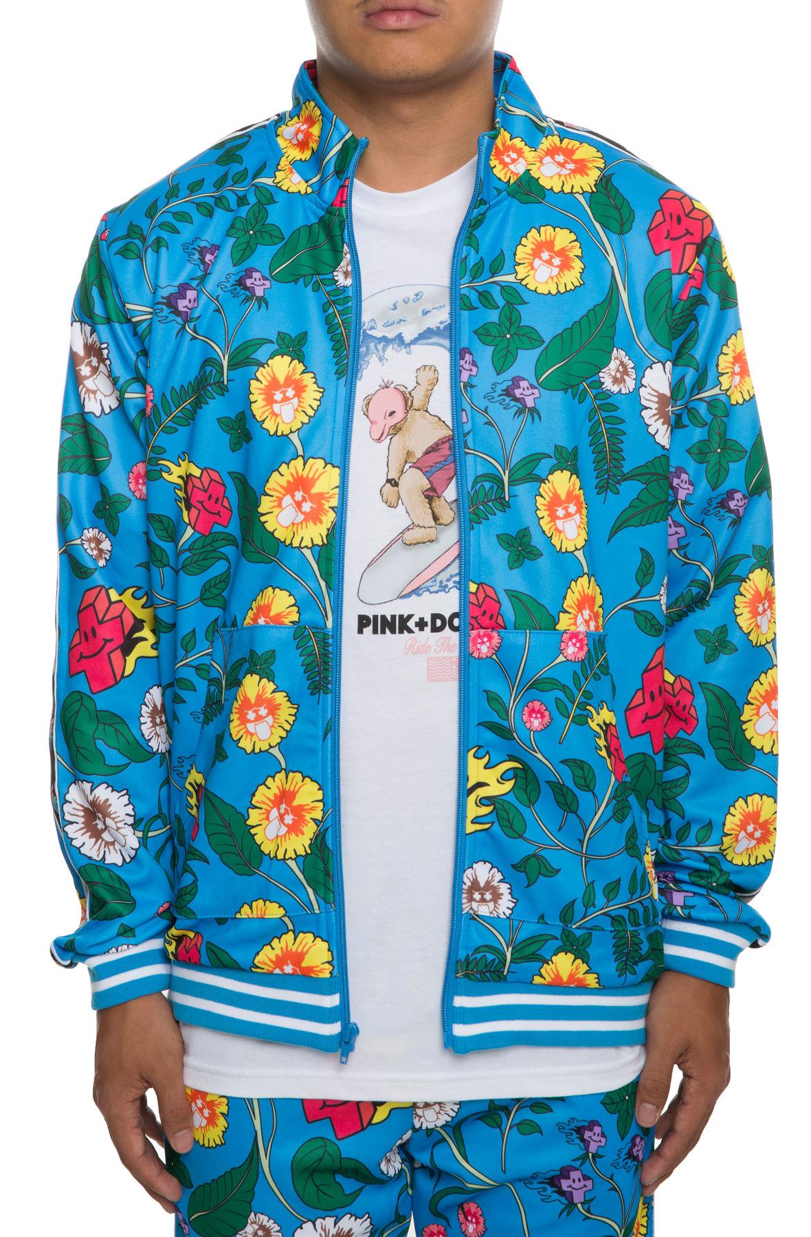 The Wave Sport Track Jacket in Blue Floral