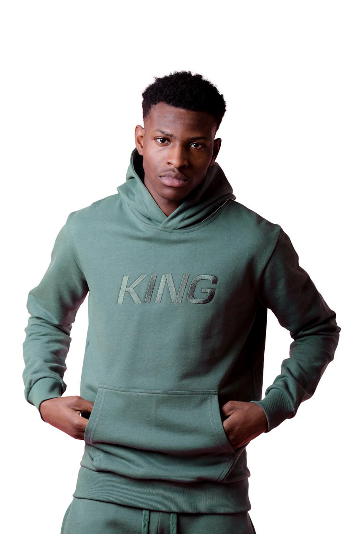 Image of Wapping Tracksuit Hoodie - Fern