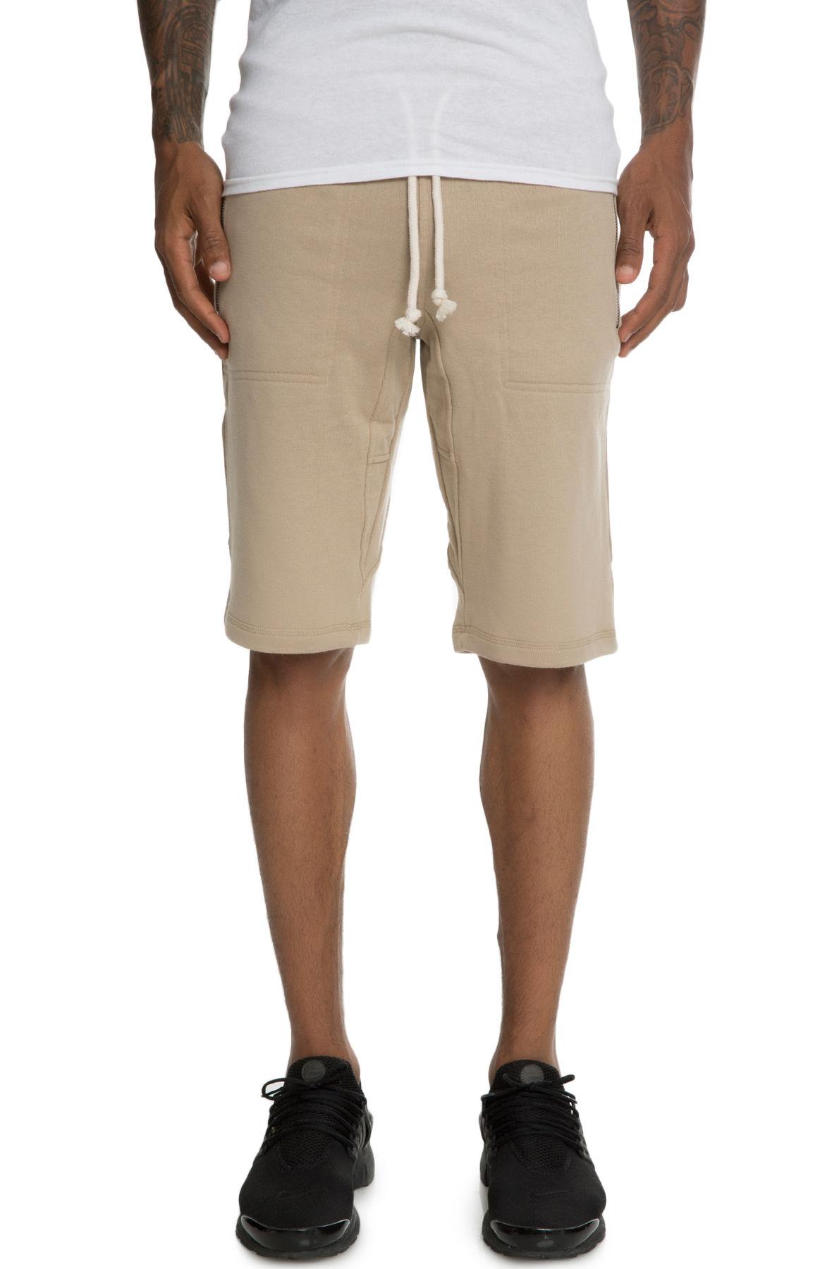 Image of The Laurencio Fleece shorts in Sand