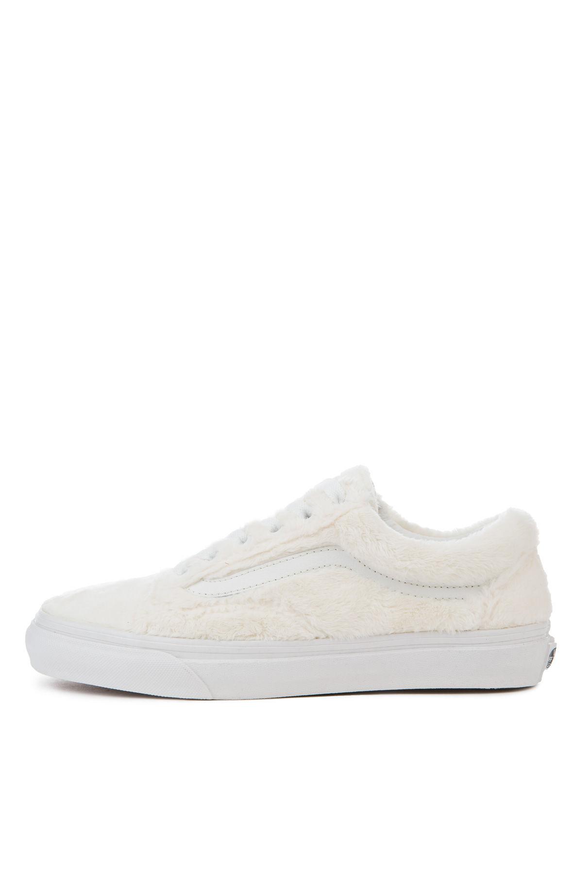 8cbb0aa027e Vans Sneaker Women s Old Skool Sherpa Turtledove True White