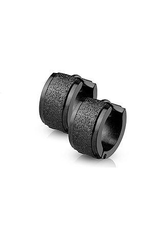 The Sand Blast Center Earrings - Black