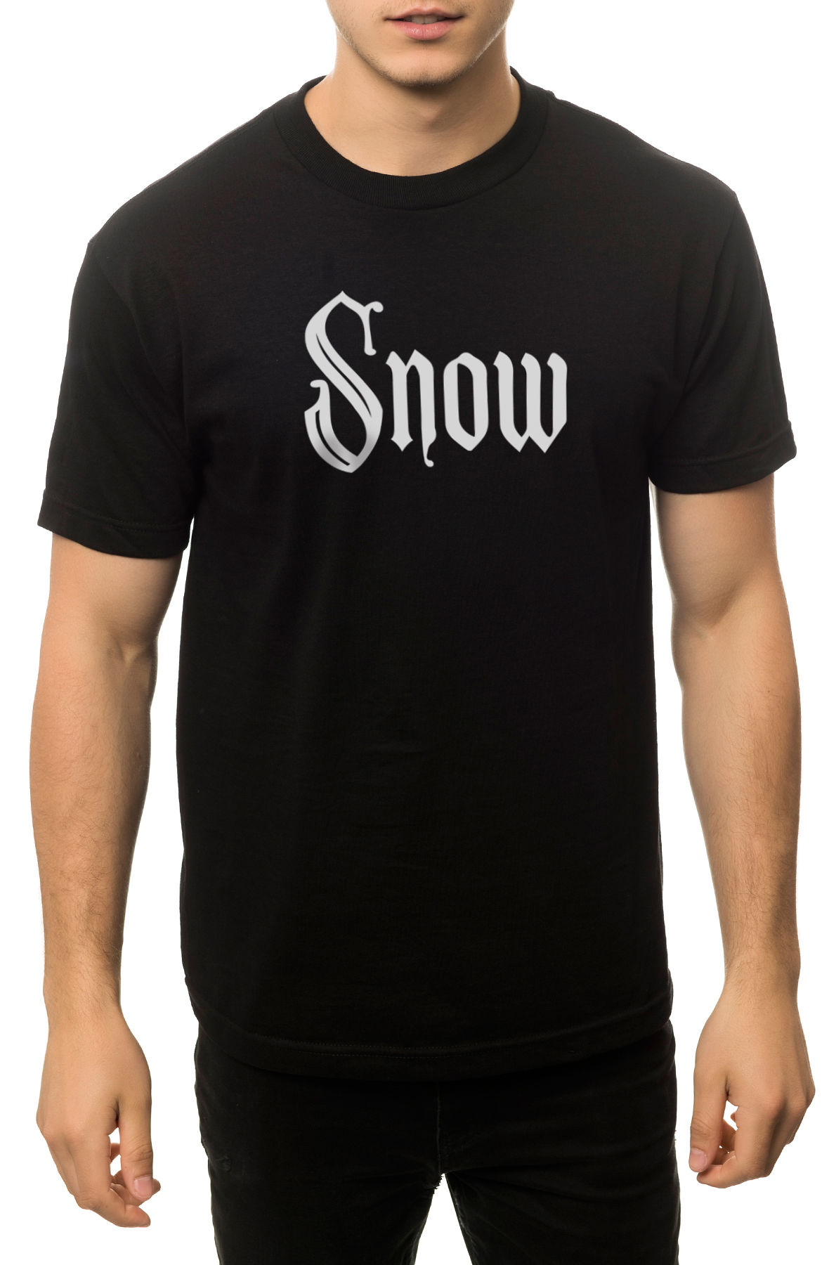 The Snow Girl Tee in Black
