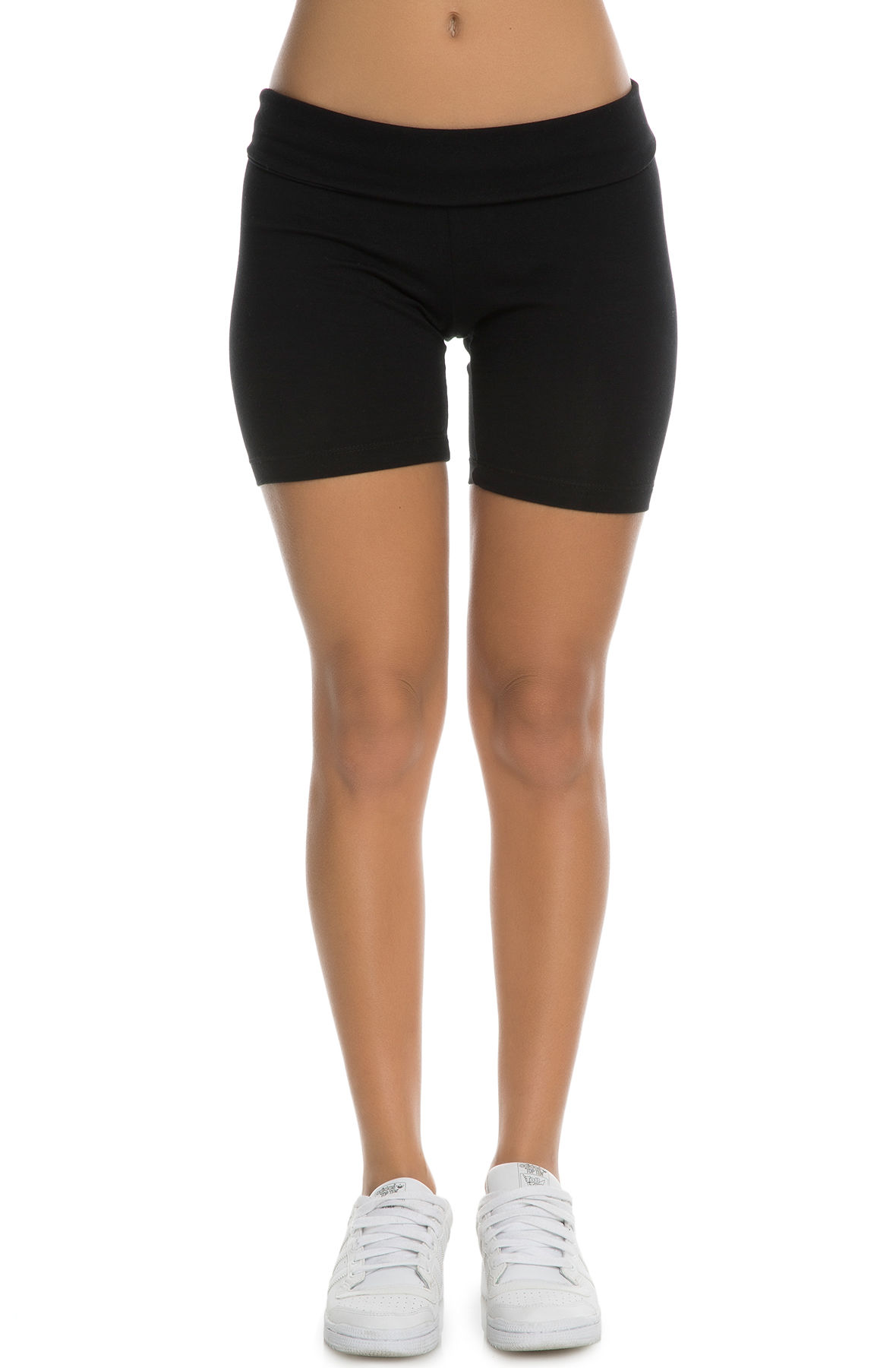 Image of The Jaclyn Women's Spandex Shorts in Black
