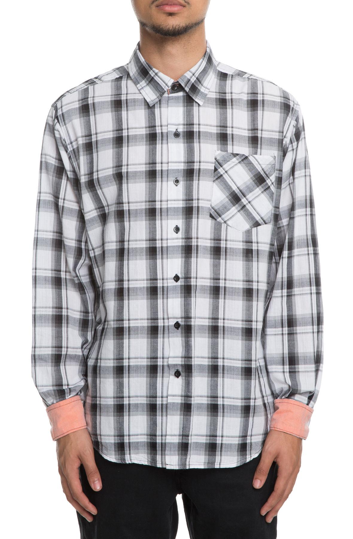 Image of Something Tried Plaid Shirt in White/Black