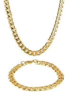 Cuban Necklace & Bracelet Combo
