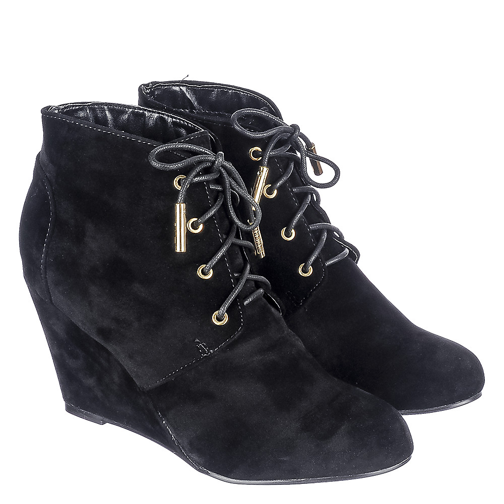 Women's Wedge Lace-Up Boots Lala Land