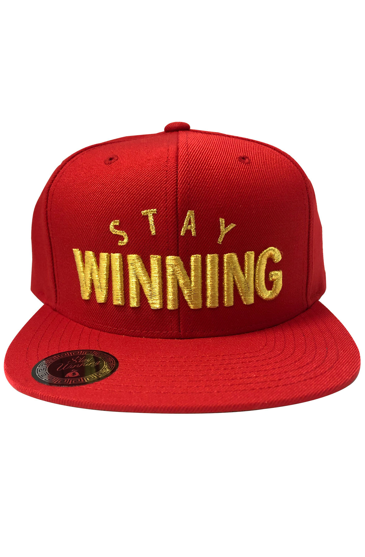 Image of STAY WINNING RED/GOLD SNAP BACK