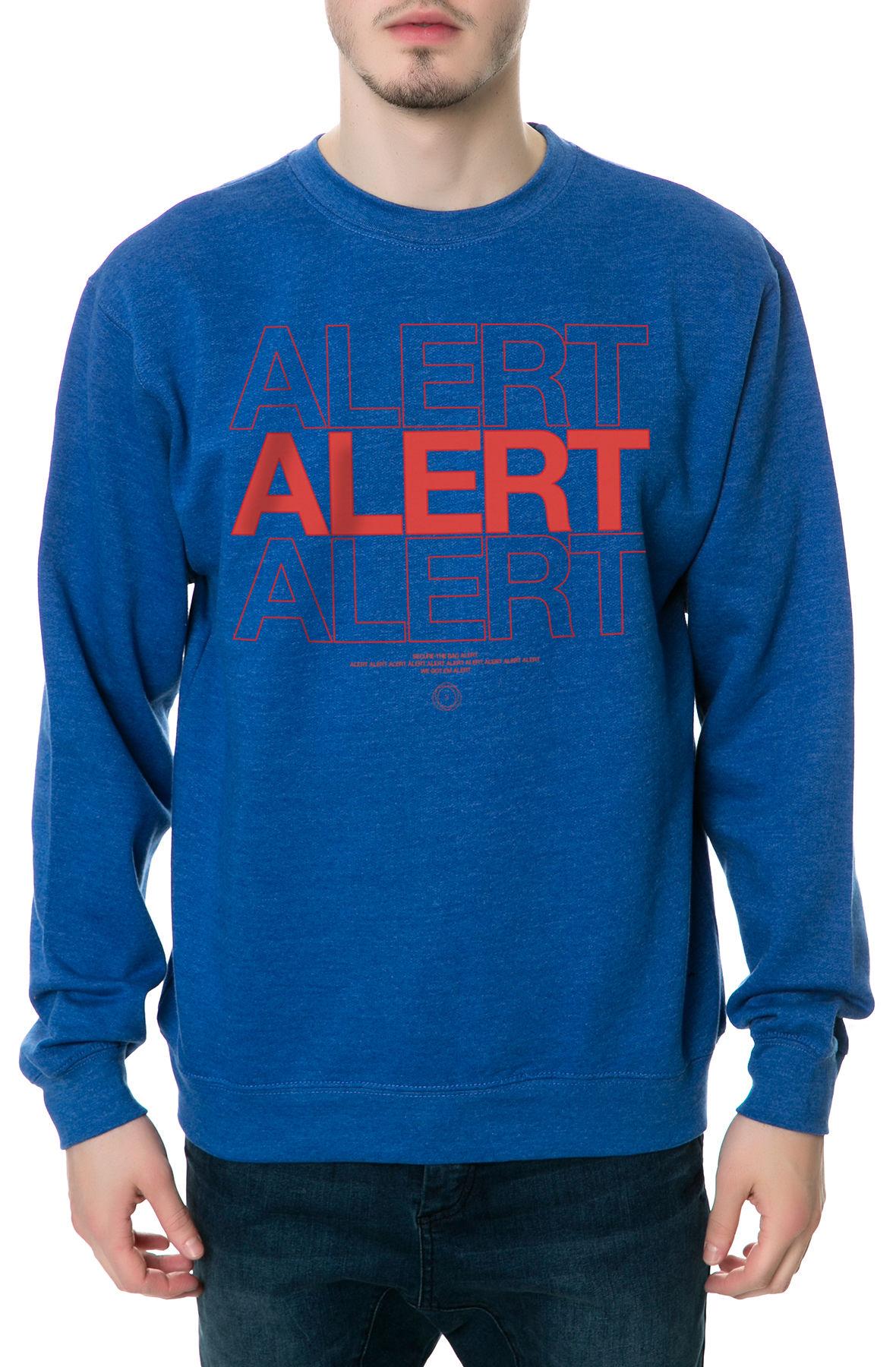 The Alert Crewneck Sweatshirt in Royal Blue