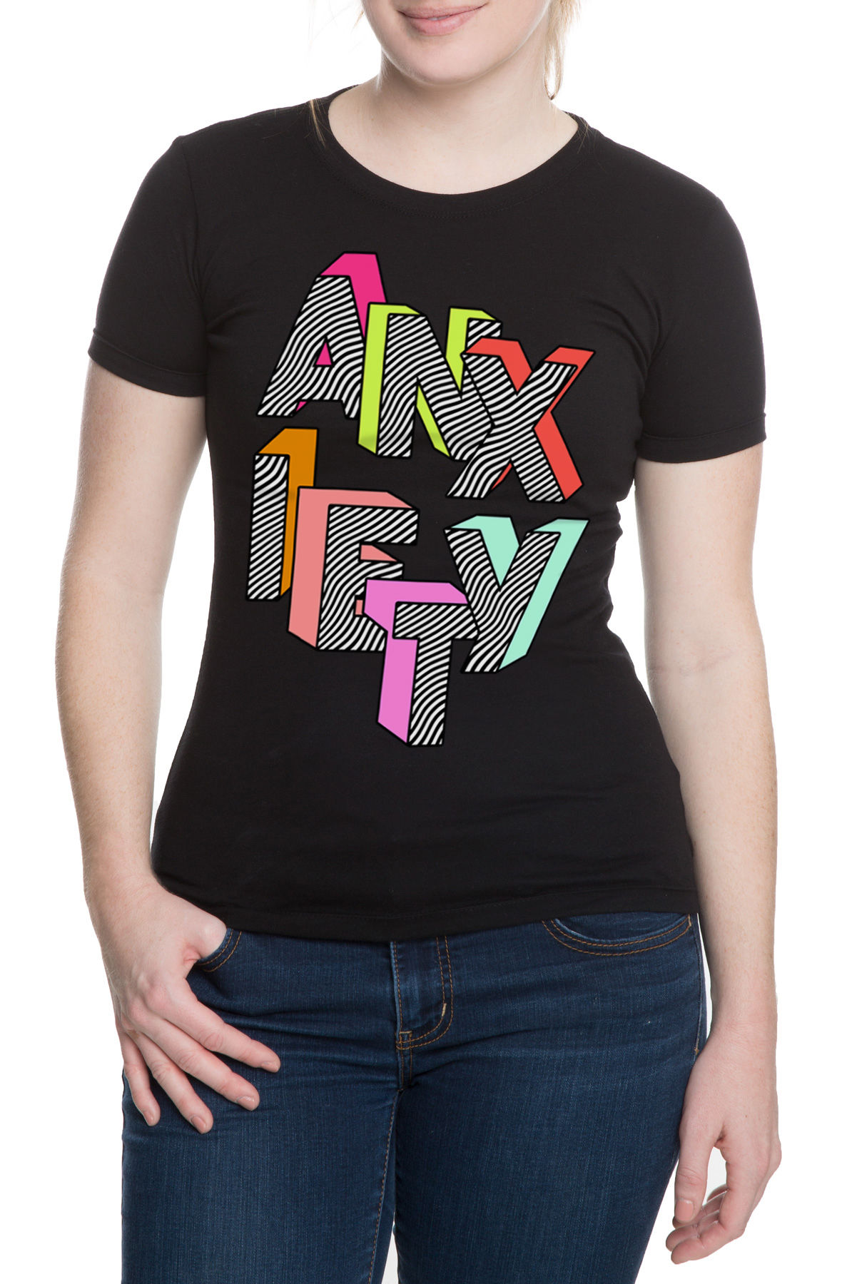 Image of The Anxiety Tee in Black