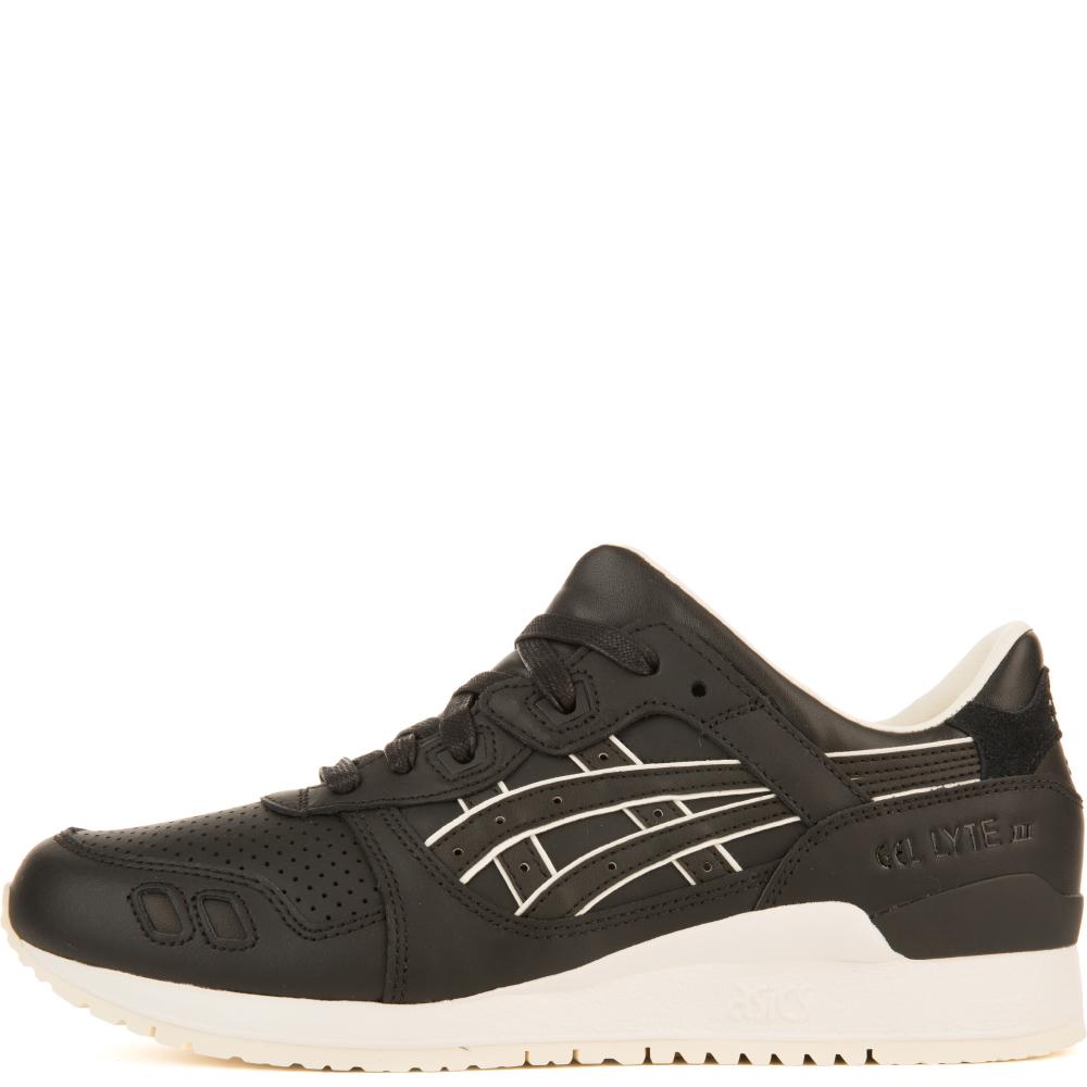 asics unisex: gel-lyte iii black/black sneakers