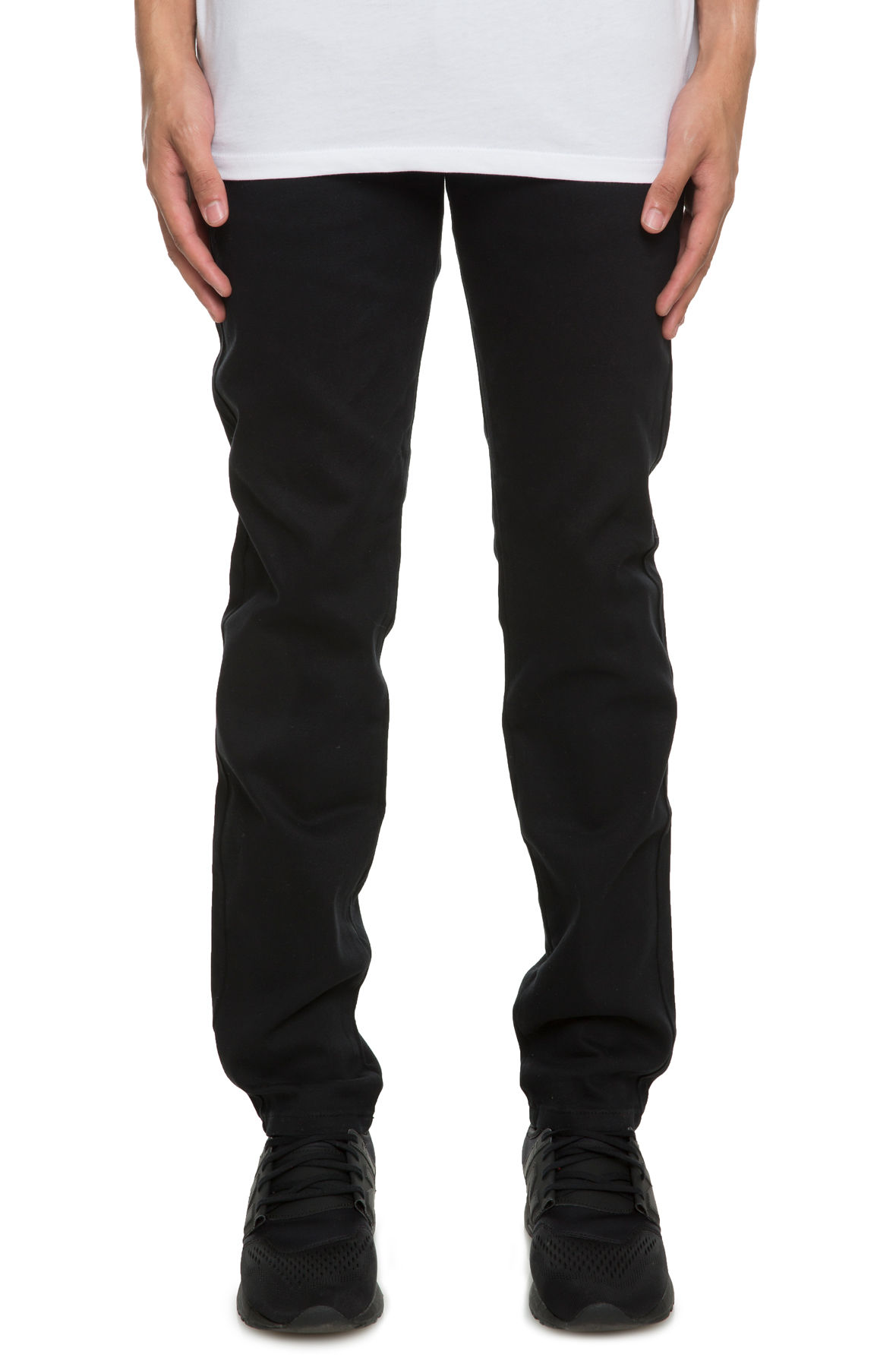 Image of Slim Fit Chino Pants with Stretch Fabric in Black