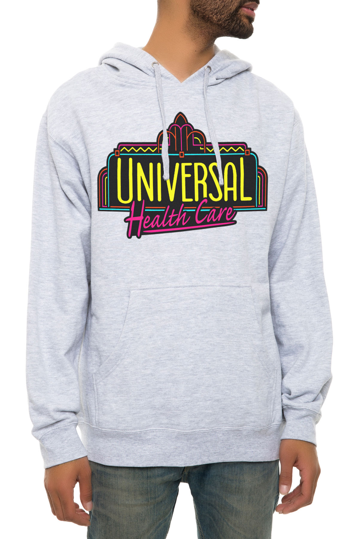 Image of The Universal Health Care Hoodie in Heather Grey