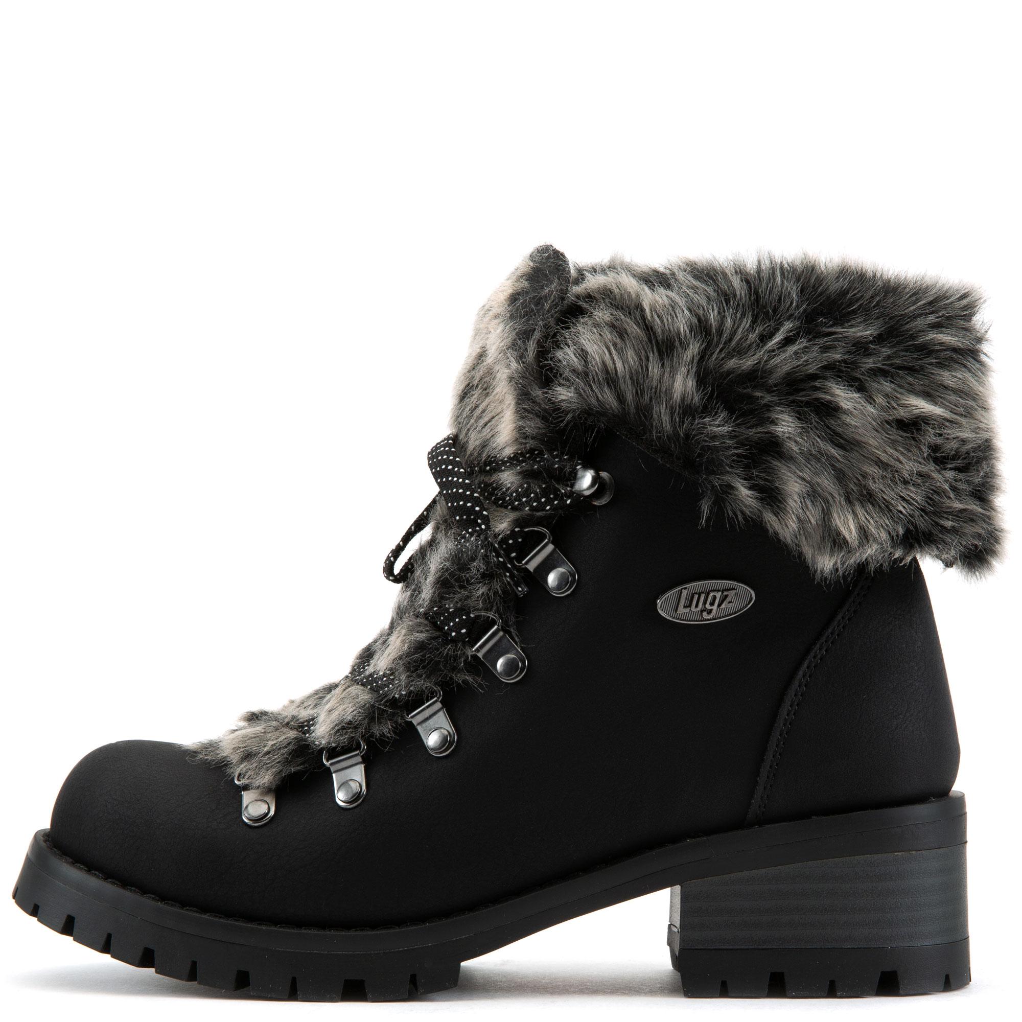 Adore Faux Fur Lace-Up Boots