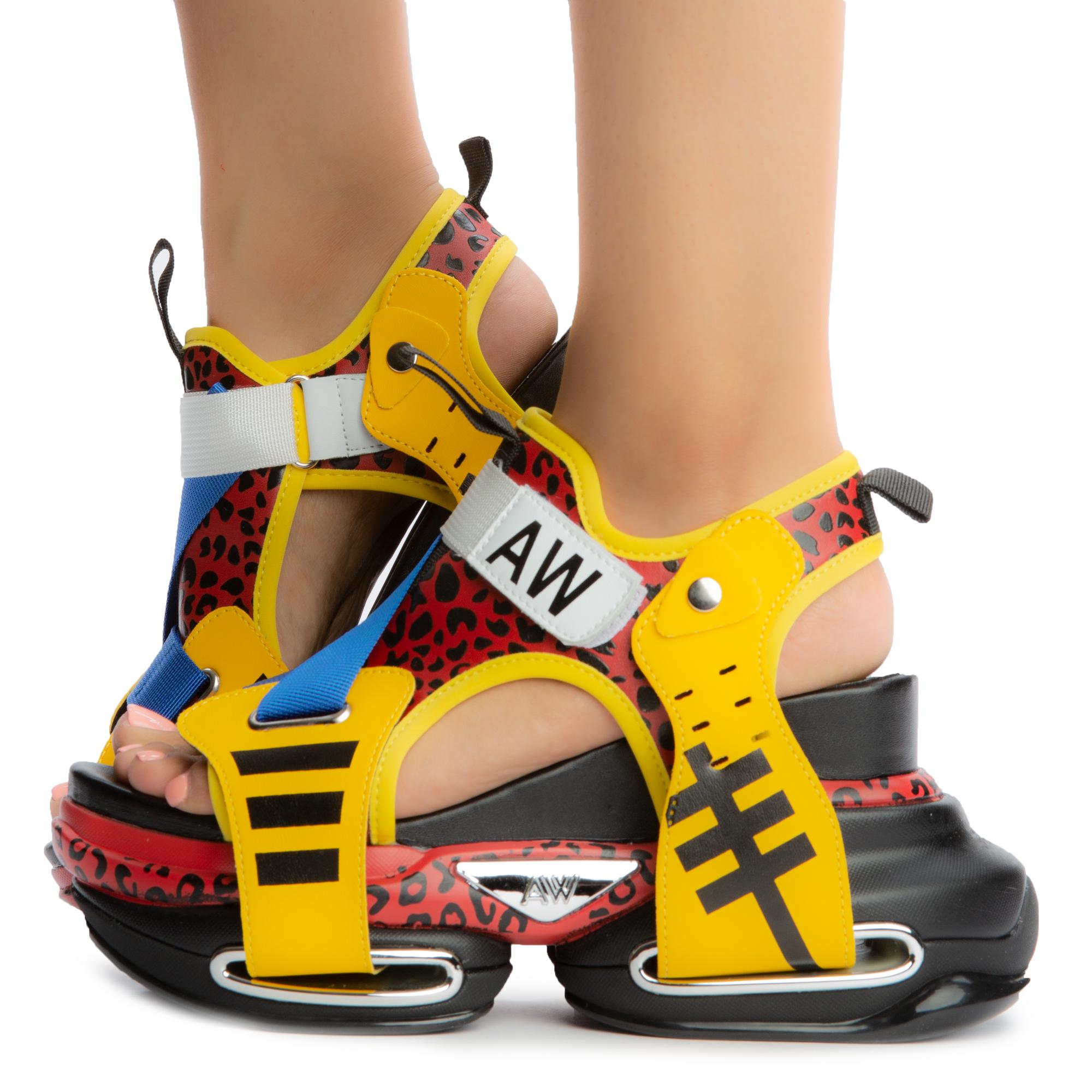Star Fruit Platform Sandals