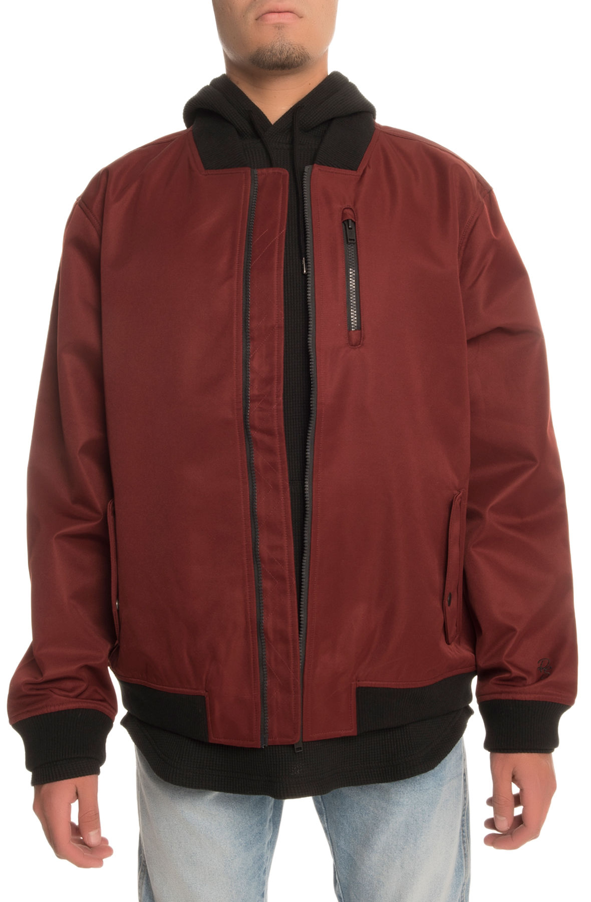 Image of The Ground 1 Bomber Jacket in Red