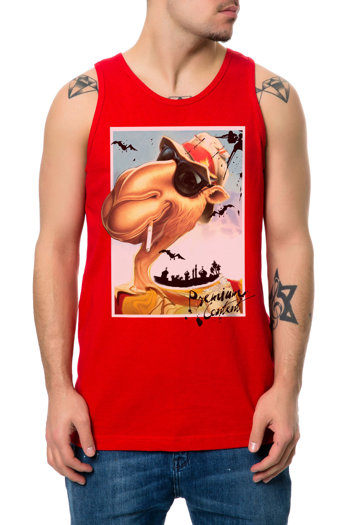 Image of The Loathing Tank Top in Red