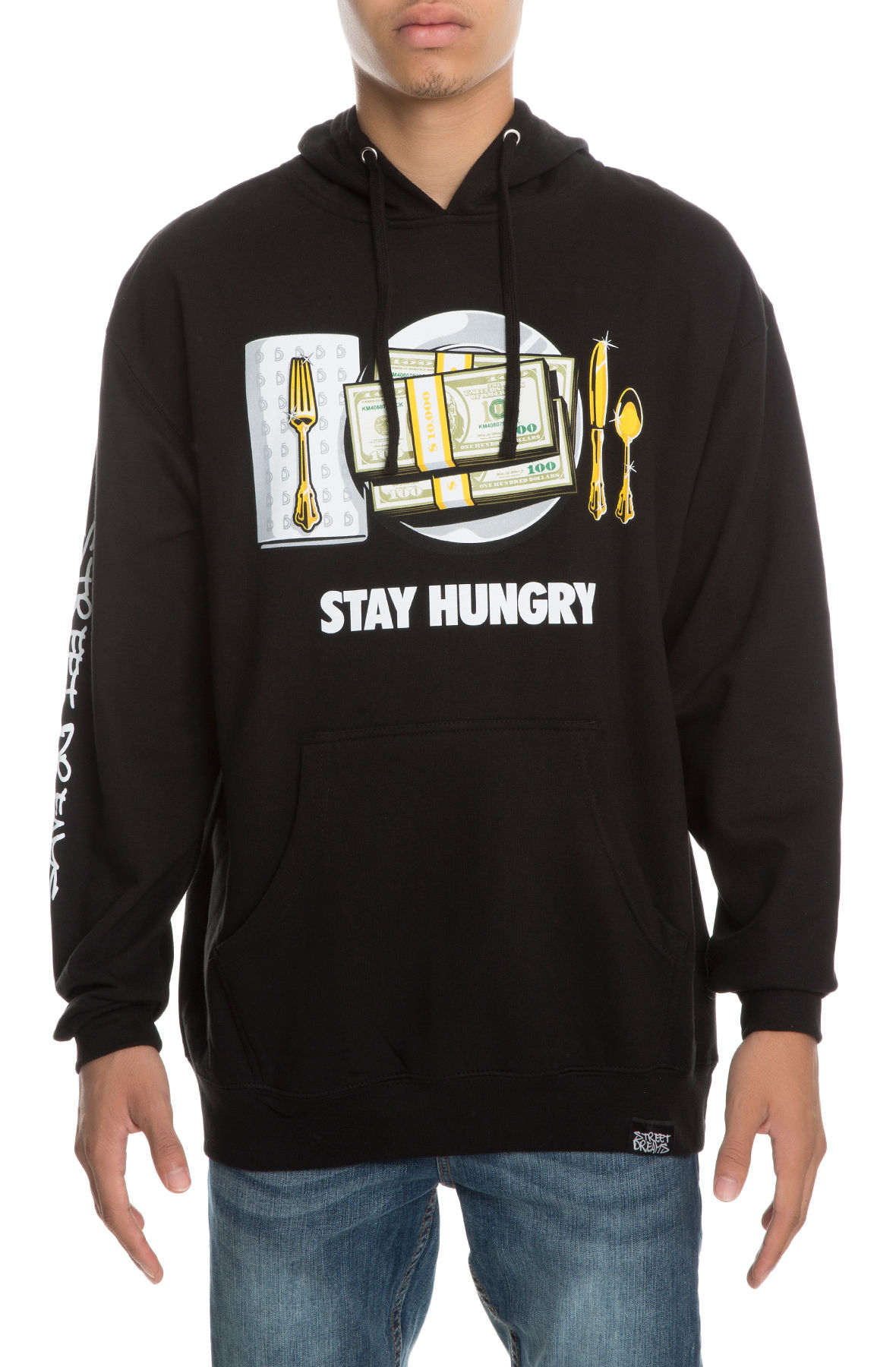 Image of The Stay Hungry Pullover Hoodie in Black