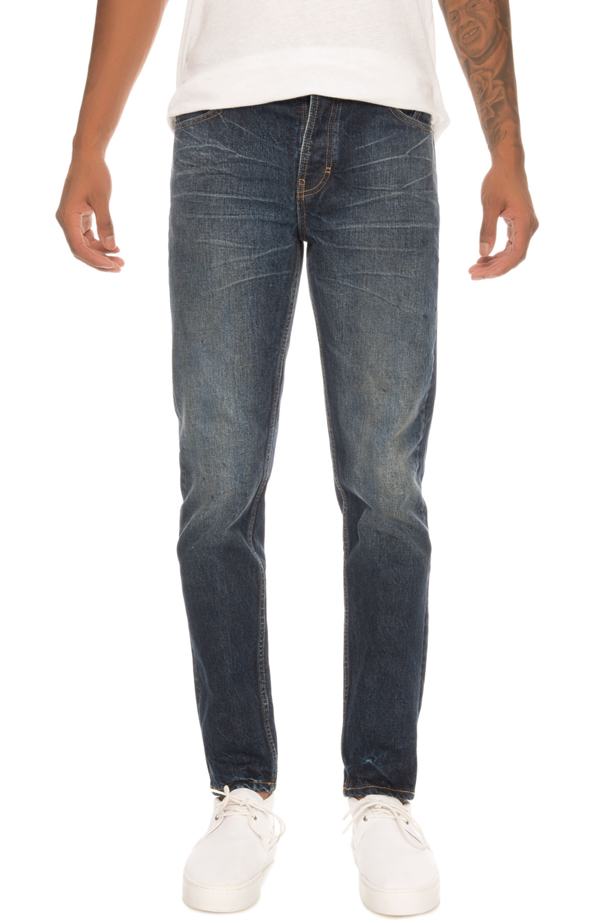 Image of The Tapered Denim Jeans in Workman Blue
