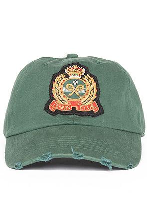tennis club green dad hat