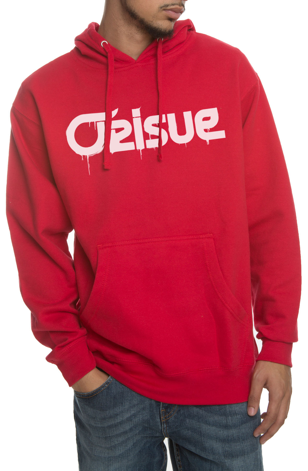 Image of The New Age Spray Hoodie in Red