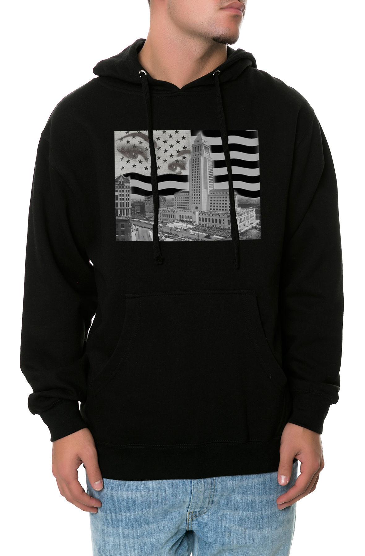 Image of The US of LA Hoodie in Black