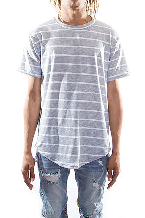 Essential Slit T-shirts Heather Gray