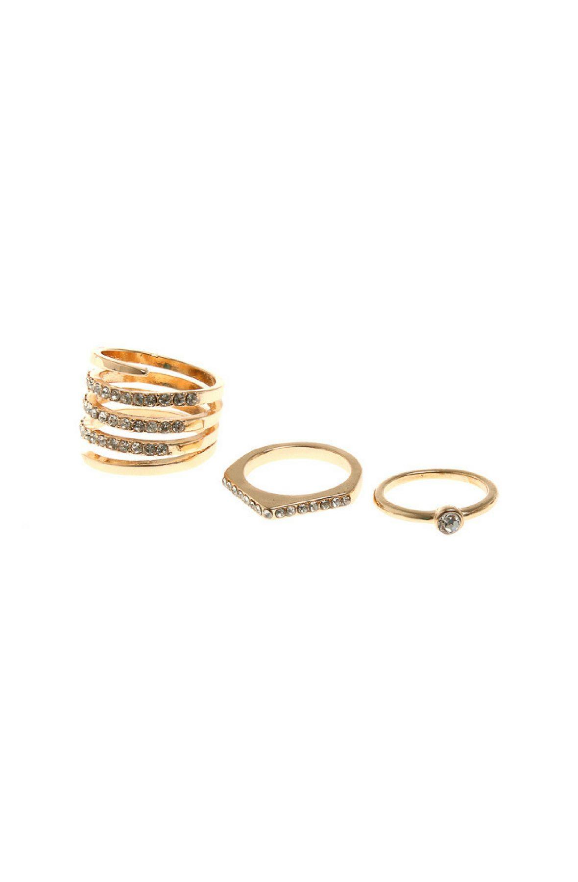 Image of 3 Piece Statement Ring Set