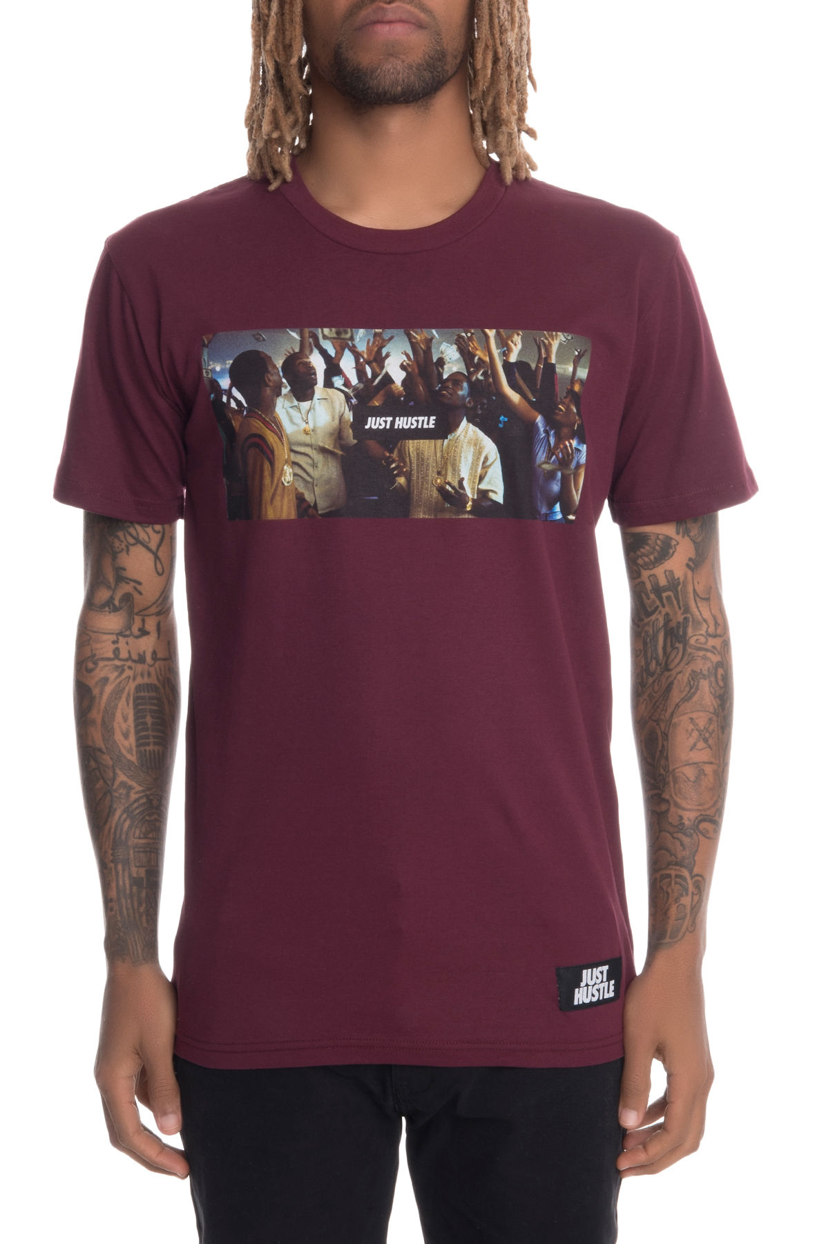 Image of The Paid In Full Short Sleeve Tee in Burgundy