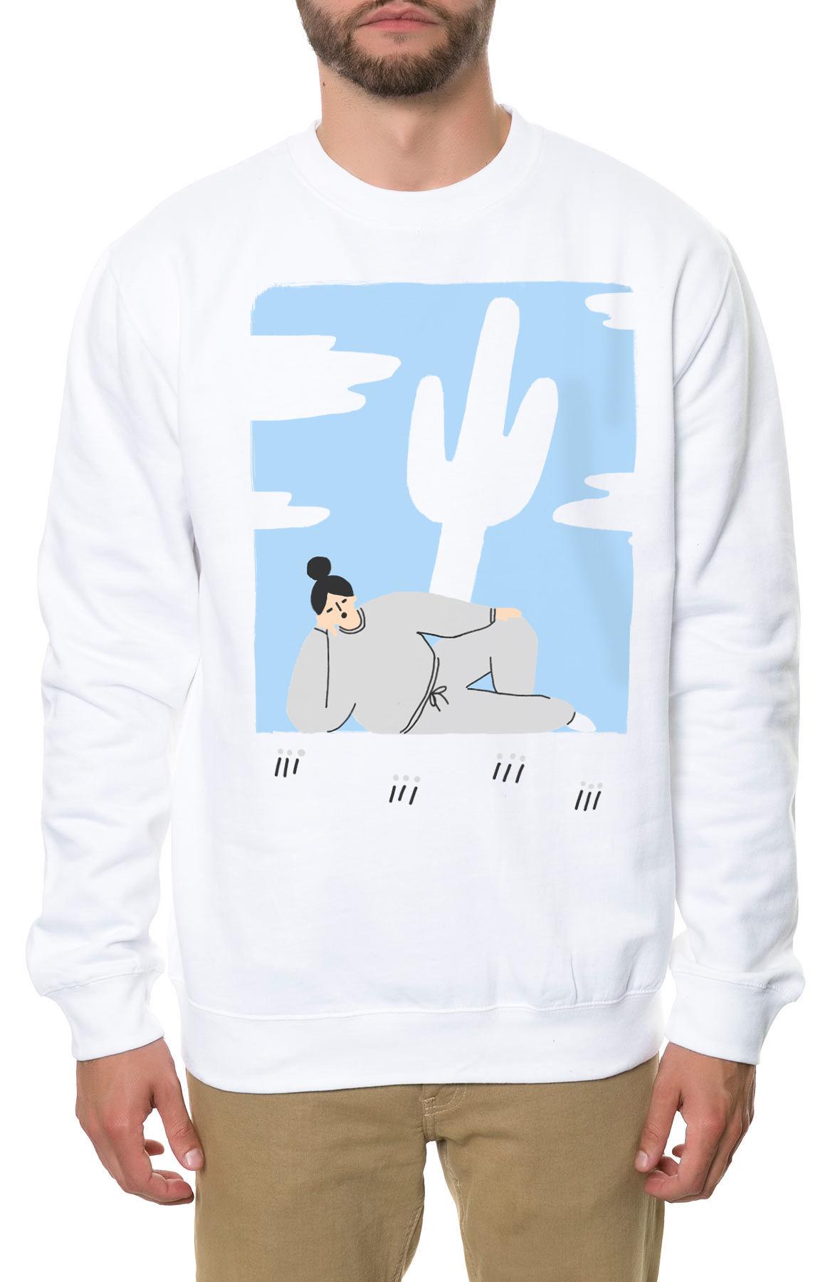 Image of The Guzu Crewneck Sweatshirt in White