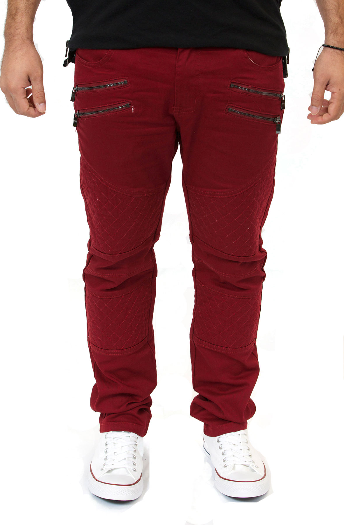 Image of Burgundy Skinny Fit Jeans