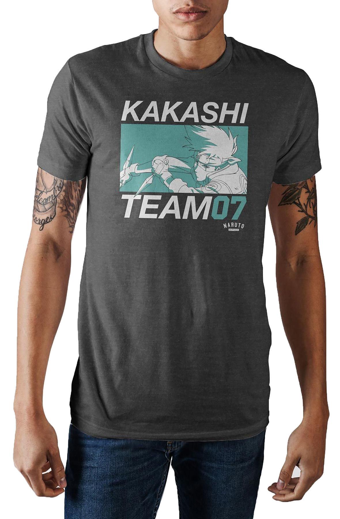 Image of The Kakashi Hatake Mens Short Sleeve Tee in Black
