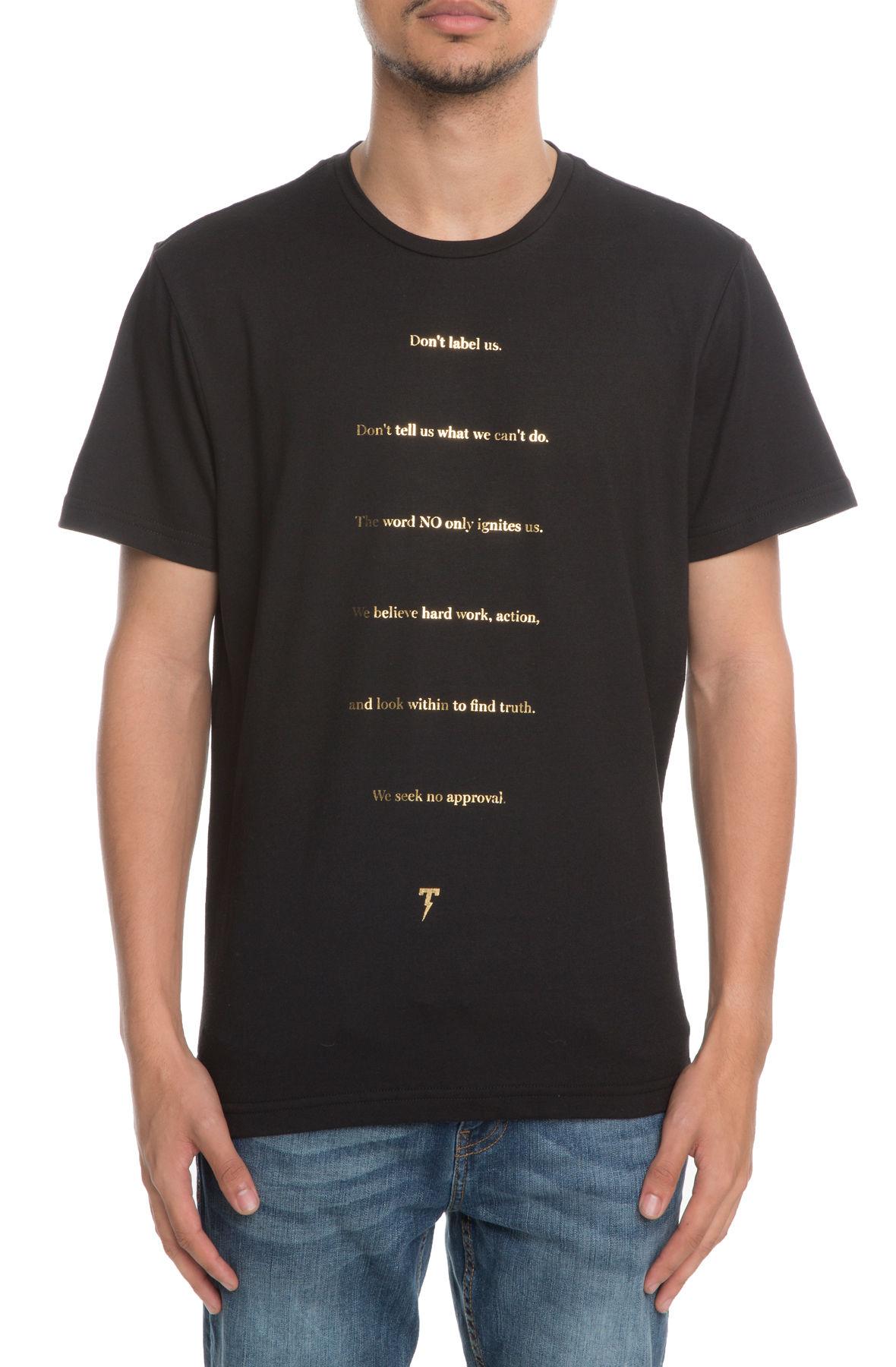 Image of The Manifesto Short Sleeve Tee in Black