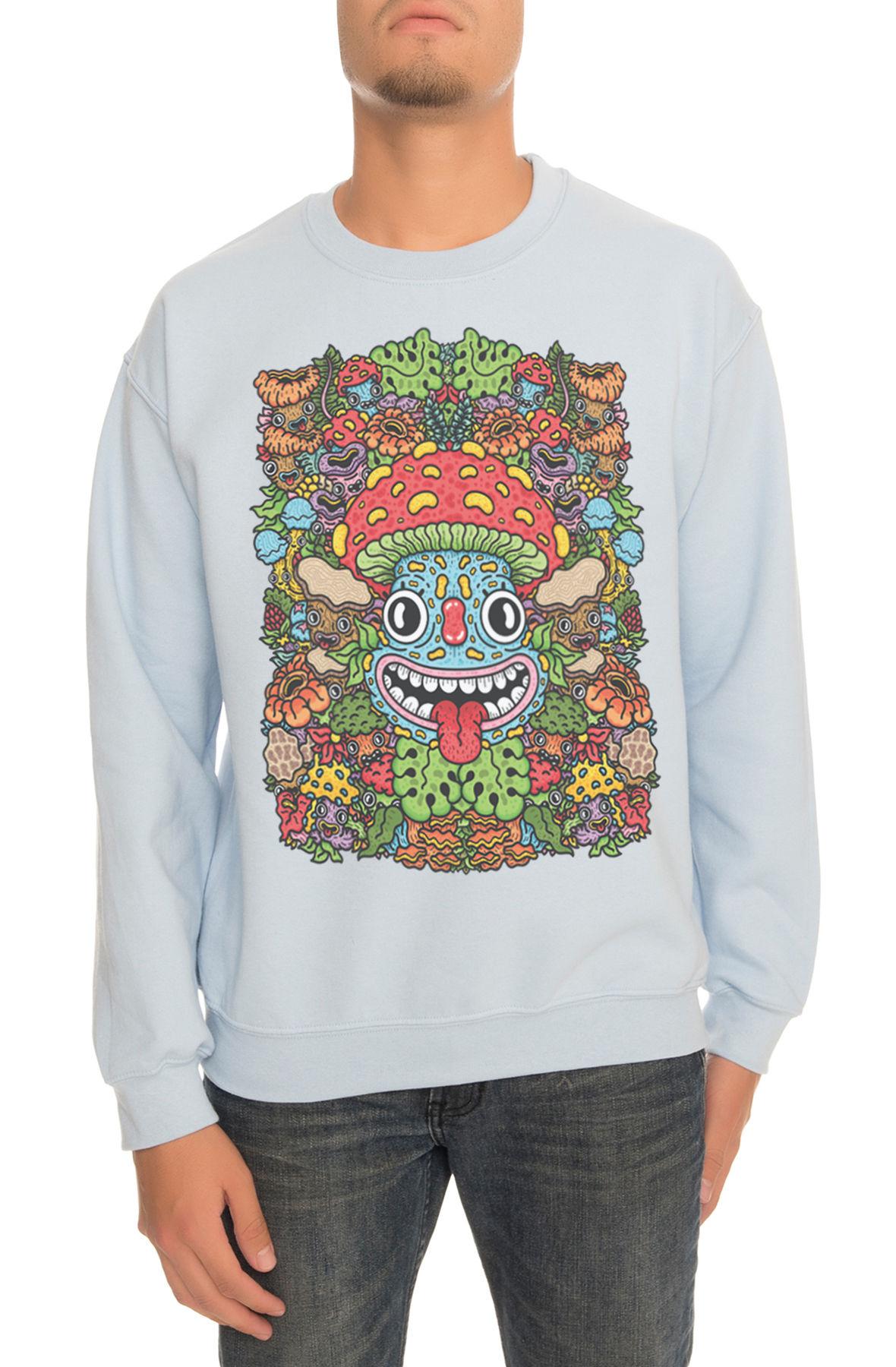Image of The Champignon Crewneck Sweatshirt in Light Blue