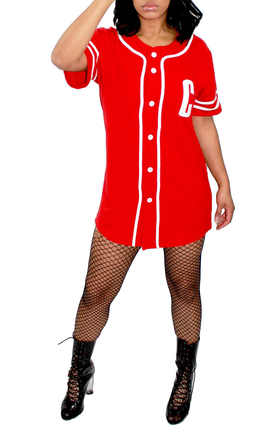 Image of Rouge Baseball Dress