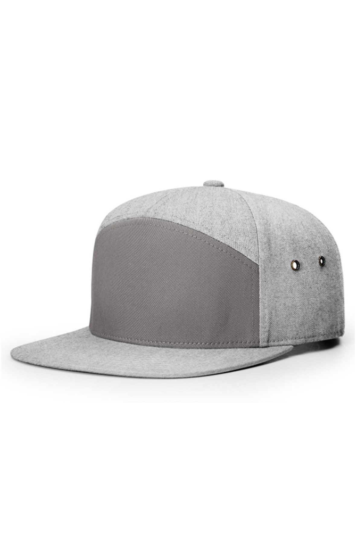 Image of Twill Leather Strapback in Heather Gray