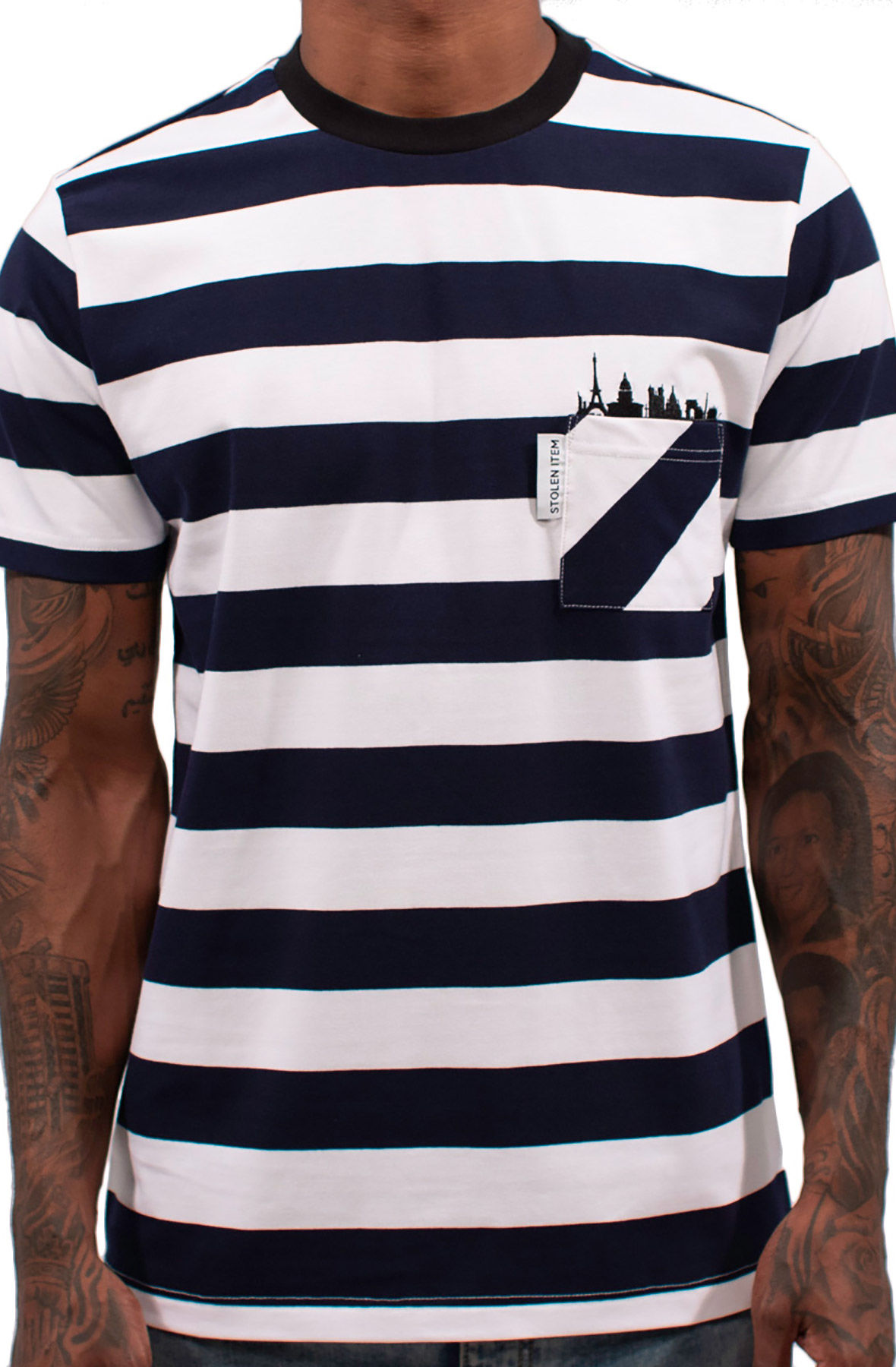 Image of Skyline Pocket Tee (Navy)
