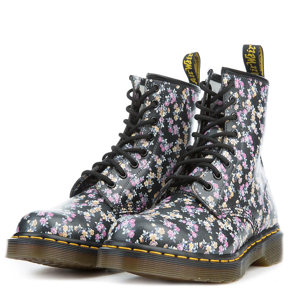 women's 1460 black noir boots