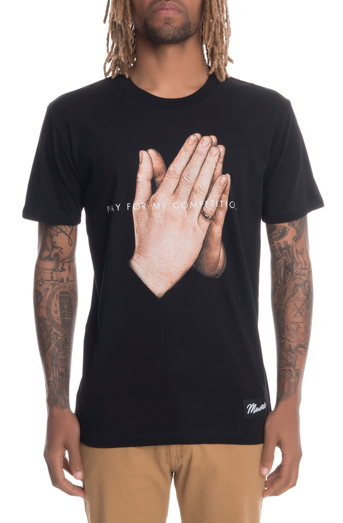Image of The Pray For My Competition Short Sleeve Tee in Black