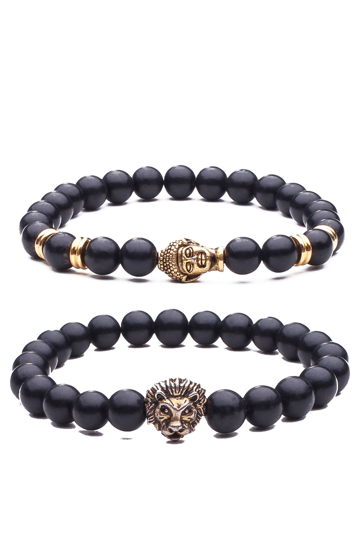 Set of 2 Beaded Bracelets