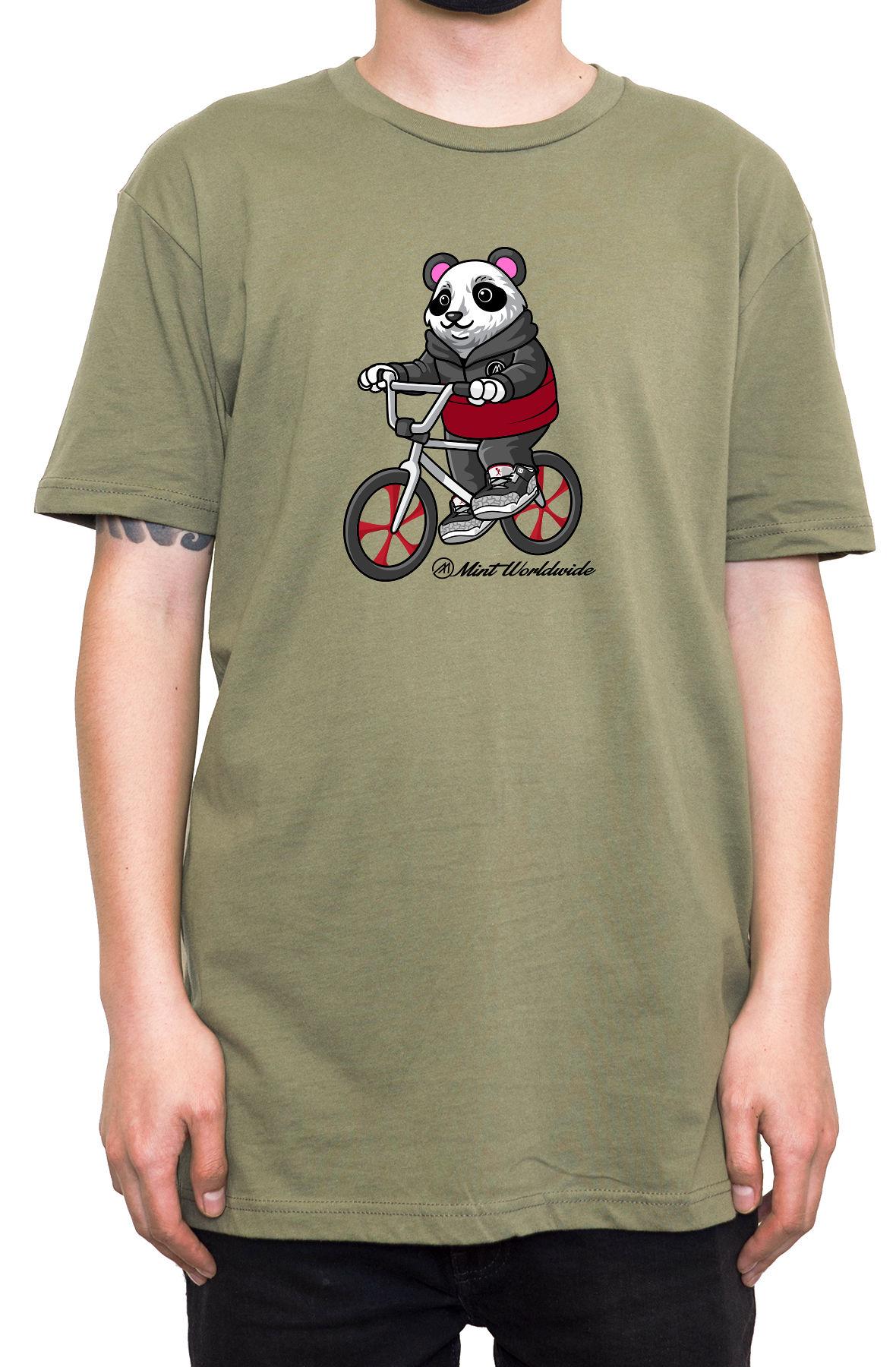 """BMX Bear T-shirt """" Army Green"""