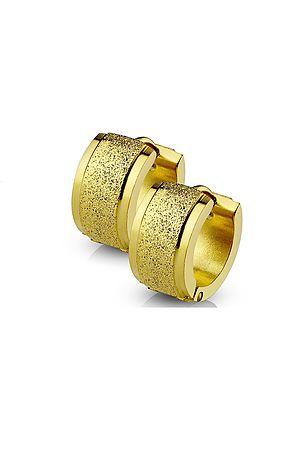 The Sand Blast Center Earrings - Gold